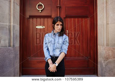 Young hipster women wearing stylish clothes
