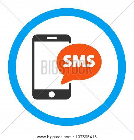 Phone Sms Rounded Vector Icon