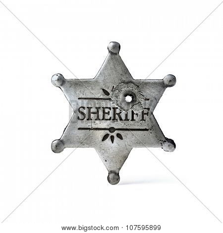 sheriff star isolated on white background