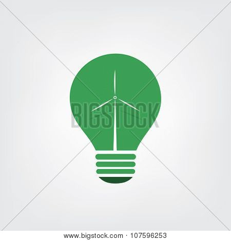Green Eco Energy Concept Icon - Wind Power