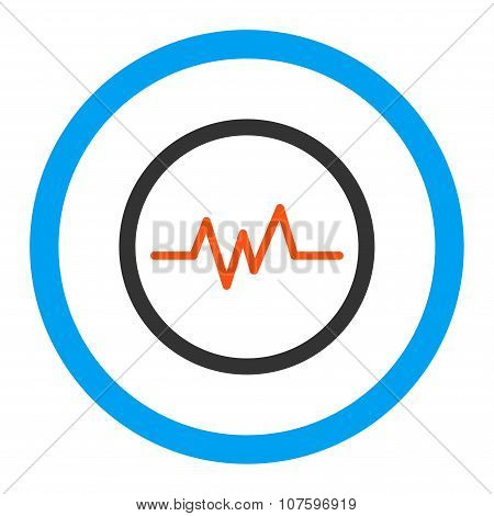 Pulse Monitoring Rounded Vector Icon