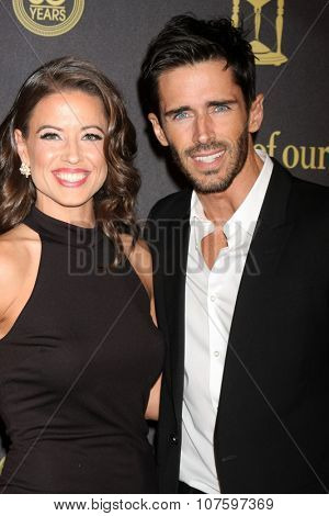 LOS ANGELES - NOV 7:  Mandy Beemer, Brandon Beemer at the Days of Our Lives 50th Anniversary Party at the Hollywood Palladium on November 7, 2015 in Los Angeles, CA