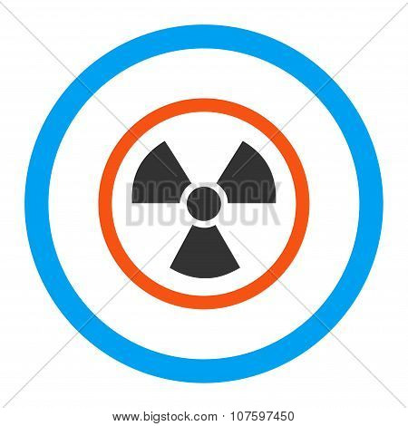 Radiation Danger Rounded Vector Icon
