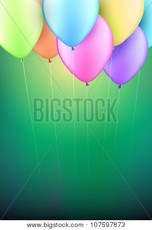 Vector balloons background