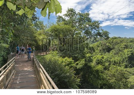 People At Iguazu Park