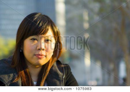 Close Up Young Asian Girl