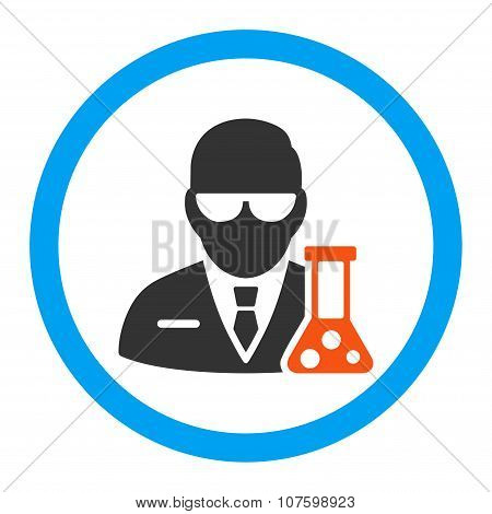 Scientist Rounded Vector Icon