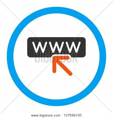 Select Website Rounded Vector Icon