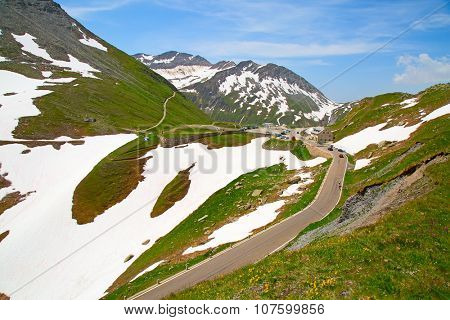 Furka pass one of the most important alpine routes