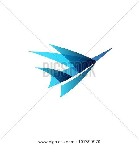Airplane Abstract Logo