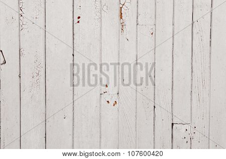 White Wooden Background With The Effect Of Craquelure