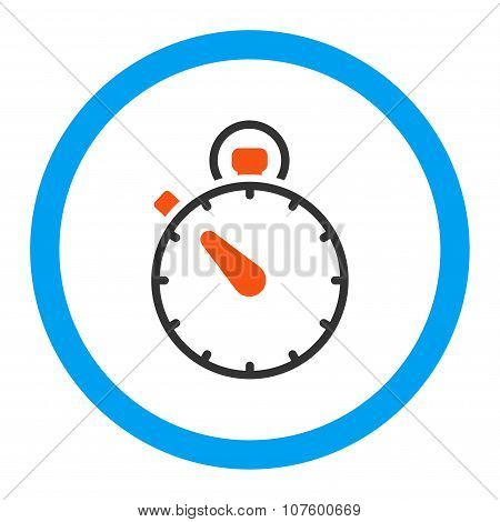Stopwatch Rounded Vector Icon