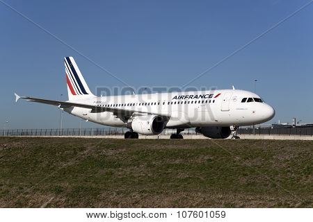 Airbus 320 from airfrance airliner.