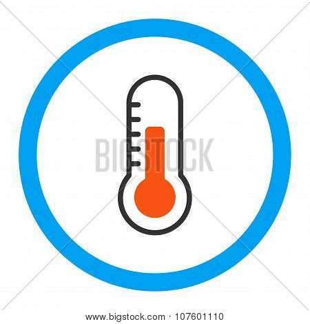 Temperature Rounded Vector Icon