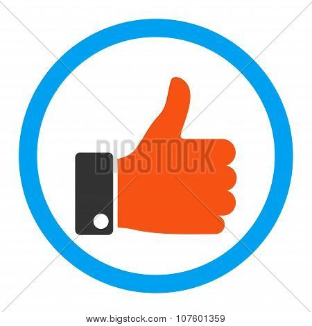 Thumb Up Rounded Vector Icon