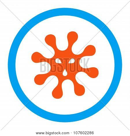 Virus Rounded Vector Icon