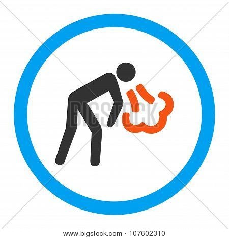 Vomiting Rounded Vector Icon