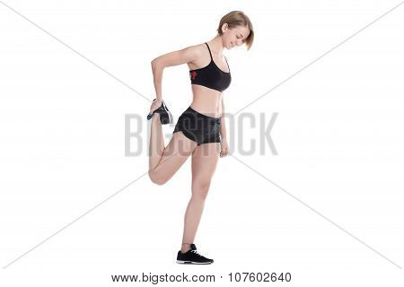 Sporty Woman Warming Up