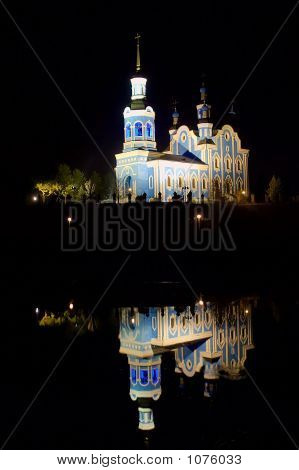 A Nocturnal View At The St. Nikolai\'S Cathedral