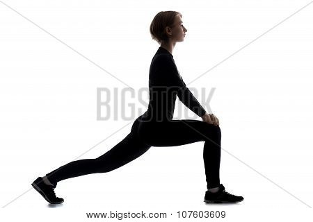 Sporty Woman Doing Lunge Exercises
