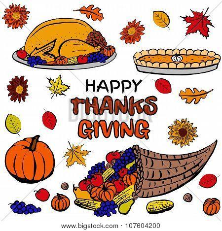 Thanksgiving day dinner set