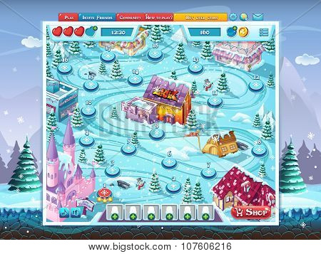 Merry Christmas Gui - Map Playing Field Window Background