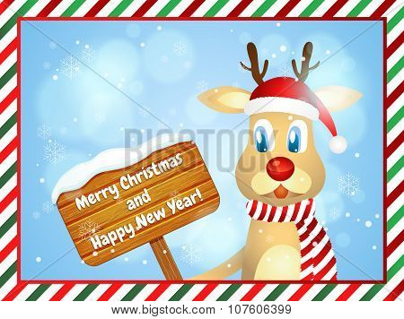 Merry Christmas And Happy New Year. Christmas Greeting Card