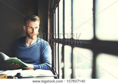Reading Book Lifestyle Relaxation Concept