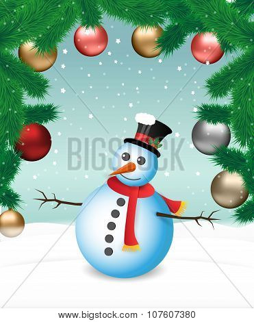 Christmas landscape background