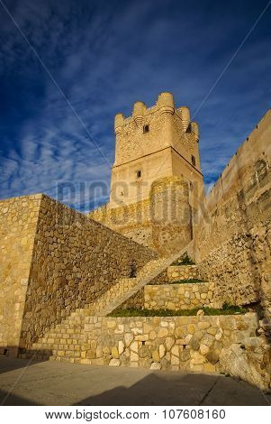 Castle At Vilena, Valencia Y Murcia, Spain