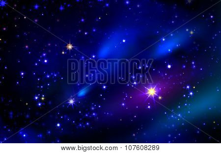 Stars and galaxy space sky night background.