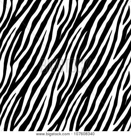 Zebra Repeated Seamless Pattern