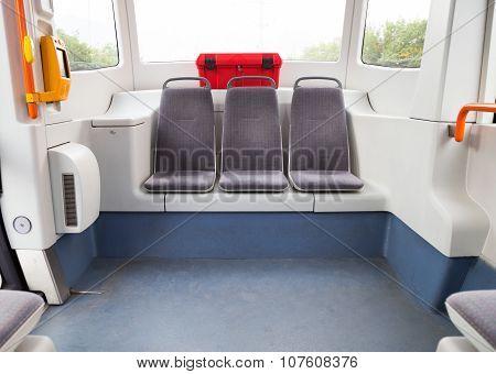 Interior Of A Tram Or Streetcar