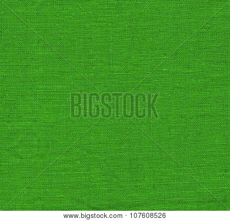 Vintage green fabric background.