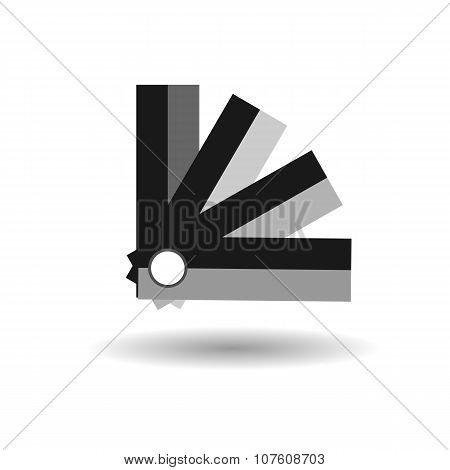 Panton Black Flat Vector With Shadow