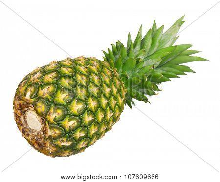 Fresh ripe pineapple isolated on white background