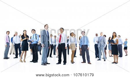 Large Group of Business People Organization Corporate Concept