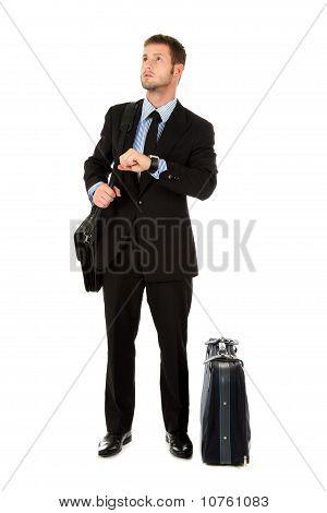 Young Businessman Impatient