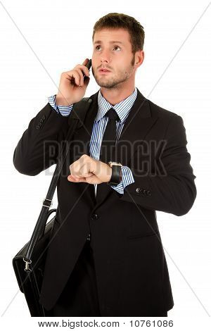 Young Businessman Impatient