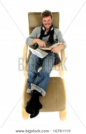 Young Man With Spectacles, Relaxing Time