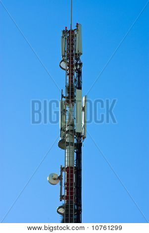 Gsm Tower On Sky Background