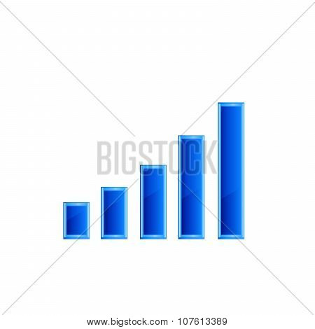 Financial graph stat business background