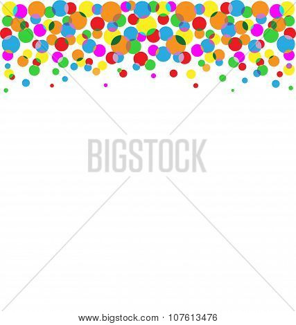 Set Of Multicolored Circles Isolated On White