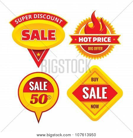 Sale - creative vector badges set. Special discount vector badges collection. Super offer concepts.