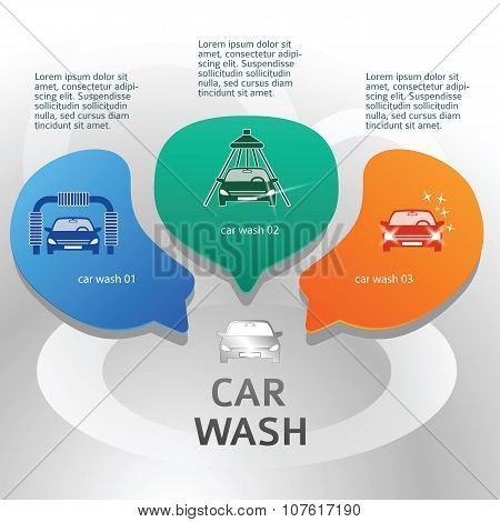 Car-wash-brochure-page-background-with-steel-bubbles