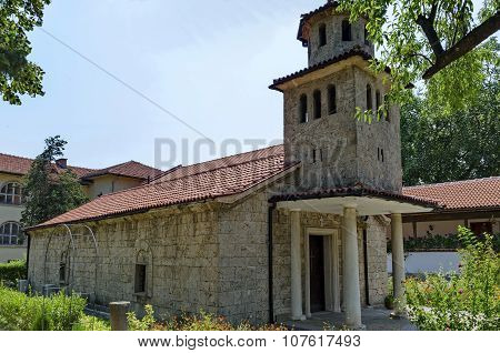 Reconstructive Bulgarian orthodox church in the active Batkun Monastery