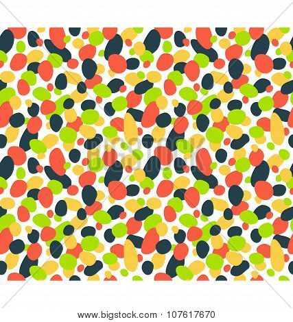 Seamless Bright Abstract Pattern Isolated On White