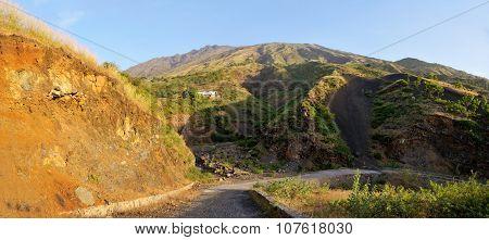 Road Through River Bank