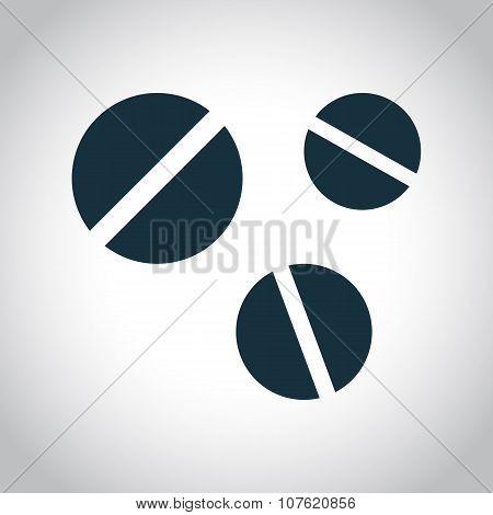 3 round pills icon