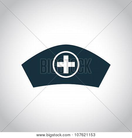 Hospital nurse head icon